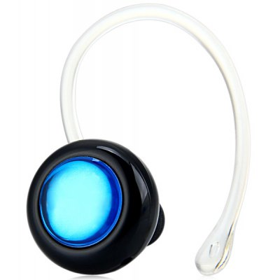 Mini a Diamond Blue Mini Wireless Bluetooth Earphone Ear - hook Headset with Mic for Smartphone Tablet PC