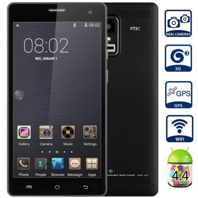 P780 Android 4.4 3G Phablet with 5.5 inch QHD Screen MTK6582 1.3GHz Quad Core 1GB RAM 4GB ROM GPS Dual Cameras