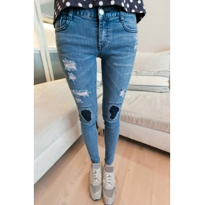 Stylish Low Rise Ripped Jeans