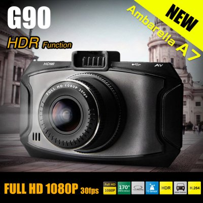 Dome G90 2.7 inch 13.0MP Resolution H.264 1080P Full HD Car DVR 170 Degree Wide Angle Lens Video Recorder with Charger