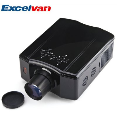 EXCELVAN DS86 150 Lumens LCD 4:3 Mobile LED Projector 640 x 480 2000:1 Contract Ratio Support AV/SV/YPRPB/VGA/HDMI/USB