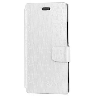 Leather + Plastic Water Cube Flip  Protective Wallet Case Cover for Doogee DG350