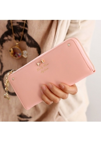 Sweet Bow and Pendant Design Women's Clutch Wallet