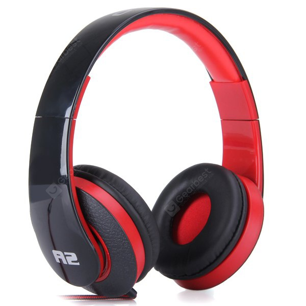 OVLENG A2 Comfortable Fit Dynamic Stereo Headphone DJ Stretchable Headset 1.2m Cable for iPhone - iP