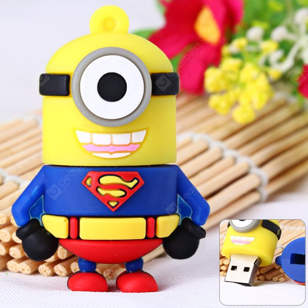 Cartoon Style Superman Bee-do Pattern 32GB USB 2.0 Flash Memory U Disk for Computer NU0246501