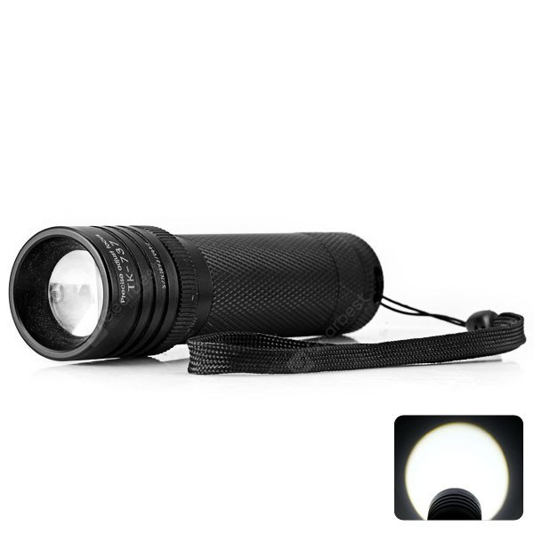 Tank007 TK737 Torch Cree XP - G R5 LED 5 Mode 300lm Highlight White Zooming Flashlight (1 x AAA Battery)