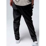 Buy Casual Style Lace-Up Design Solid Color Slimming Personality Pocket Embellished Narrow Feet Men's Cotton Blend Harem Long Pants M BLACK