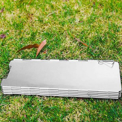 8 Plates Foldable Outdoor BBQ Picnic Camping Stove Wind Shield Screen Cookout