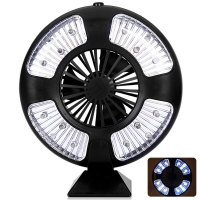 Гаджет   16 LED Bivouac Camping Tent Lamp Light with Fan Design Outdoor Lanterns
