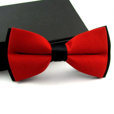 Casual Color Blocked Bow Tie For Men