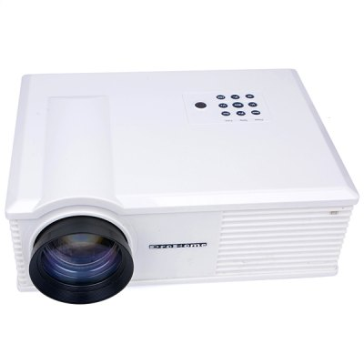 PH580 LCD 3200 Lumens 2000:1 Contrast LED Projector Support HDMI USB TV AV VGA  -  UK PlugProjectors<br>PH580 LCD 3200 Lumens 2000:1 Contrast LED Projector Support HDMI USB TV AV VGA  -  UK Plug<br><br>Model: PH580<br>Color: White, Black<br>Material: Plastic, Glass<br>Display Type: LCD<br>Native Resolution: 1280 x 800<br>Aspect Ratio : 4:3/16:9<br>Resolution Support: HD 1080P<br>Brightness: 3200 Lumens<br>Contrast Ratio: 2000:1<br>Lamp Life: 30000 hours<br>Projection Distance: 2 - 5 m<br>Lens : Manual Focus<br>Image Size: 30 - 150 inch<br>Power Supply: 110 - 240V/50 - 60Hz<br>Lamp: LED<br>Lamp Power: 140W<br>Interface: USB, HDMI, TV, VGA, AV<br>Other Features: Built-in Speakers (2W x 2), Electronic Keystone Correction<br>Product Weight: 3.5 kg<br>Package Weight: 5.5 kg<br>Product Size (L x W x H): 32.5 x 26 x 14 cm / 12.8 x 10.2 x 5.5 inches<br>Package Size (L x W x H): 36 x 30 x 19.8 cm<br>Package Contents: 1 x Projector, 1 x Power Cord, 1 x AV Cable, 1 x VGA Cable, 1 x Remote Control, 1 x USer Manual