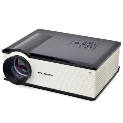 PH580S 220 Lumens 1280 x 800 Pixels HD LCD Projector 2000:1 Contrast Ratio with HDMI VGA TV AV USB Input  -  US Plug