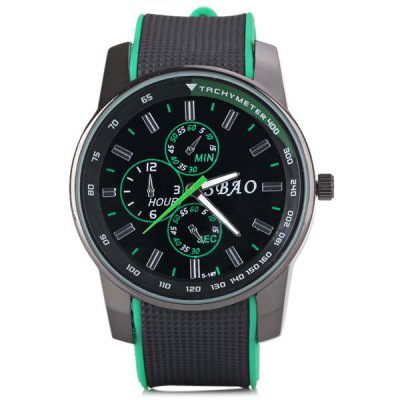 Гаджет   Cool Men Wrist Watch Analog with Round Dial Rubber Watch Band Men