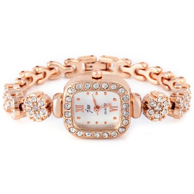 Unique Women Watch Analog with Diamonds Style Rectangle Dial Steel Watch BandWomens Watches<br>Unique Women Watch Analog with Diamonds Style Rectangle Dial Steel Watch Band<br><br>Watches categories: Female table<br>Available color: Silver, Champagne<br>Style : Diamond, Fashion&amp;Casual<br>Movement type: Quartz watch<br>Shape of the dial: Rectangle<br>Surface material: Crystal mirror<br>Display type: Pointer<br>Case material: Stainless steel<br>Case color: Gold<br>Band material: Steel<br>Clasp type: Buckle<br>Band color: Gold<br>Special features: Three needles<br>The dial thickness: 0.8 cm / 0.3 inch<br>The dial diameter: 2.1 cm / 0.8 inch<br>Product weight: 0.03 kg<br>Product size (L x W x H) : 19.0 x 2.3 x 0.8 cm / 7.5 x 0.9 x 0.3 inches<br>Package contents: 1 x Watch
