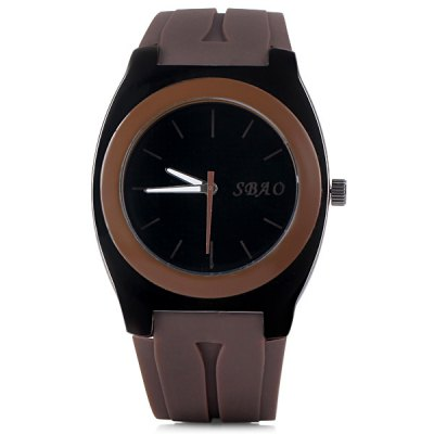 Special Men Wrist Watch Analog with Big Round Dial Rubber Watch BandMens Watches<br>Special Men Wrist Watch Analog with Big Round Dial Rubber Watch Band<br><br>Watches categories: Male table<br>Watch style: Fashion<br>Available color: Black, White, Blue, Brown<br>Movement type: Quartz watch<br>Shape of the dial: Round<br>Display type: Pointer<br>Case material: Stainless steel<br>Band material: Rubber<br>Clasp type: Pin buckle<br>Band color: Blue<br>Special features: Three needles<br>The dial thickness: 1.0 cm / 0.4 inch<br>The dial diameter: 3.3 cm / 1.3 inch<br>The band width: 2.2 cm / 0.9 inch<br>Product weight: 0.071 kg<br>Product size (L x W x H): 26.0 x 3.6 x 1.0 cm / 10.2 x 1.4 x 0.4 inches<br>Package Contents: 1 x Watch