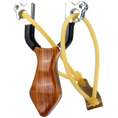New Wood Grain Design Stainless Steel Slingshot Special for Athletics and Competition