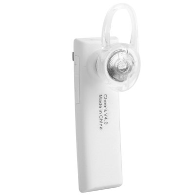 Cheers H8 Fashion Wireless Bluetooth Earphone Ear - hook Music Headset with Mic for Smartphone Tablet PCBluetooth Headphones<br>Cheers H8 Fashion Wireless Bluetooth Earphone Ear - hook Music Headset with Mic for Smartphone Tablet PC<br><br>Model  : Cheers H8<br>Wearing type : Ear Hook<br>Function : Microphone, Voice control, Answering phone, MP3 player, Bluetooth, Noise Cancelling<br>Connectivity : Wireless<br>Application : Mobile Phone<br>Working time: Talk Time: 7 hours; Music Playing Time: 5 hours<br>Standby time: About 200 hours<br>Bluetooth: Yes<br>Bluetooth version: V4.0 + EDR<br>Powlev: CLASS II<br>Bluetooth distance: W/O obstacles 10m<br>Bluetooth band: 2.4GHz<br>Product weight  : 0.008 kg<br>Package weight  : 0.122 kg<br>Product size (L x W x H) : 5.1 x 1.6 x 0.7 cm / 2.0 x 0.6 x 0.3 inches<br>Package size (L x W x H) : 18 x 6.5 x 4.5 cm<br>Package contents: 1 x Bluetooth Earphone, 1 x Ear-hook, 2 x Earbuds, 1 x Single Earphone Cable, 1 x USB Charging Cable, 1 x User Manual