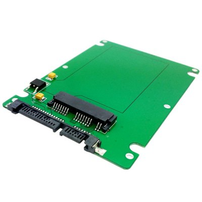 ФОТО CY SA - 098 1.8 Inch Micro SATA SSD to 7mm 2.5 Inch SATA 22 - Pin Hard Disk Drive Enclosure