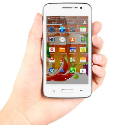 ФОТО JIAKE G900W Mini Android 4.4 3G Smartphone with 4.0 inch WVGA Screen SC7715 1.0GHz Single Core Dual Cameras