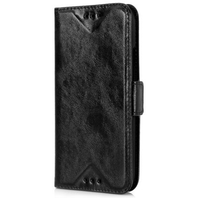Oily Sense of Touch PU and PC Stand Case with Card Holder for HTC M8 mini