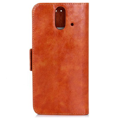 Гаджет   Oily Sense of Touch PC and PU Cover Case with Support and Card Holder for HTC E8 Other Cases/Covers