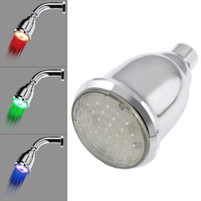 8010 - A5 Temperature Controlled Removable Blue 12 LEDs Shower Head (with Brazing)