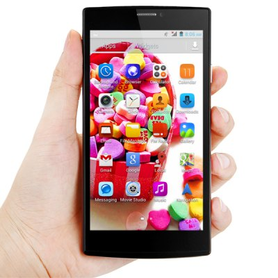 JIAKE V5 Android 4.2 3G Phablet with 5.5 inch QHD Screen MTK6572 1.2GHz Dual Core 4GB ROM GPS Gesture Sensing Dual Cameras