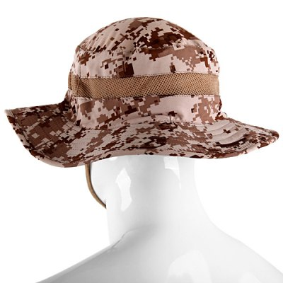 Fashionable Outdoor Camouflage Round Edge Sun Block Breathable Mesh Cap for Camping