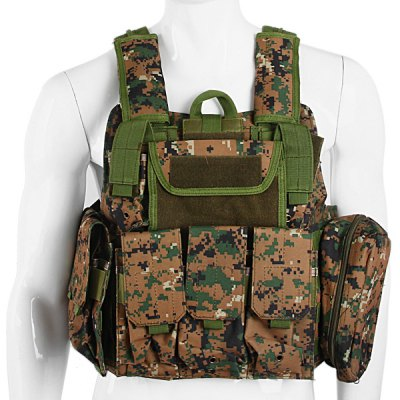 Comfortable Special Troops Amphibious Tactical Molle Vest with Strong Tensile Wear Resisting AbilityOther Sports Gadgets<br>Comfortable Special Troops Amphibious Tactical Molle Vest with Strong Tensile Wear Resisting Ability<br><br>Material: Nylon<br>Size: One Size<br>Product weight: 2.000 kg<br>Package weight: 2.250 kg<br>Product size (L x W x H): 56.00 x 52.00 x 9.00 cm / 22.05 x 20.47 x 3.54 inches<br>Package size (L x W x H): 62.00 x 58.00 x 15.00 cm / 24.41 x 22.83 x 5.91 inches<br>Package Contents: 1 x Tactical Vest