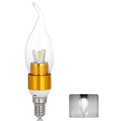 E14 300lm SMD 5730 6 LEDs 3W 85V - 265V Long life White Lighting Golden LED Candle Light Lamp