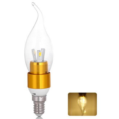 E14 300lm SMD 5730 6 LEDs 3W 85V - 265V Long Life Warm White Lighting Golden LED Candle Light Lamp