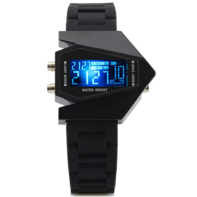 Cool Bomber Look LED Sports Watch Chronograph Wristwatch Stopwatch Digital Date Week Alarm