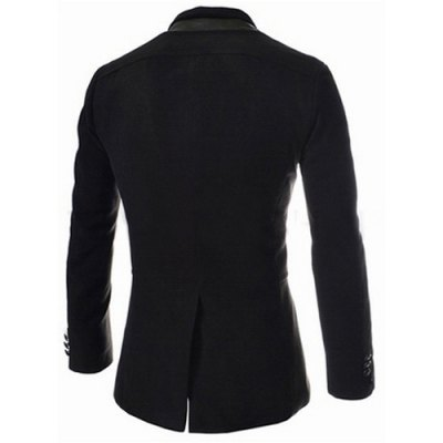 Trendy Slimming Stand Collar Long Sleeves Single-Breasted Design Solid Color Mens Long Woolen OvercoatMens Jakets &amp; Coats<br>Trendy Slimming Stand Collar Long Sleeves Single-Breasted Design Solid Color Mens Long Woolen Overcoat<br><br>Clothes Type: Wool &amp; Blends<br>Material: Cotton, Wool<br>Collar: Mandarin Collar<br>Clothing Length: Long<br>Style: Fashion<br>Weight: 1.032KG<br>Sleeve Length: Long Sleeves<br>Season: Winter<br>Package Contents: 1 x Overcoat