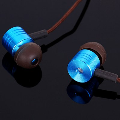 Bass Sound Piston In - ear Earphone Music Control Headphone 1.2M Canvas Cable with Mic 3.5MM Jack for iPhone Smartphone MP3 MP4 Laptops