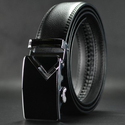 Chic Metal Automatic Buckle Faux Leather Belt For Men