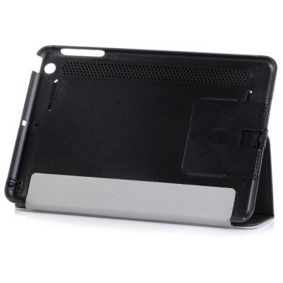 ФОТО Artificial Leather and Plastic Material Case with Stretch Handheld Stand Function for iPad Mini 1 2