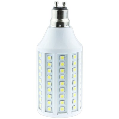 SENCART GU10 5050 SMD 20W 1100lm  -  1200lm Warm White Exhibition 108 - LED Corn Light Bulb for Entertainment (AC 85  -  265V)LED Light Bulbs<br>SENCART GU10 5050 SMD 20W 1100lm  -  1200lm Warm White Exhibition 108 - LED Corn Light Bulb for Entertainment (AC 85  -  265V)<br><br>Base Type: GU10<br>Type: Corn Bulbs<br>Output Power: 20W<br>Emitter Type: 5050 SMD LED<br>Total Emitters: 108 LEDs<br>Actual Lumen(s): 1100lm - 1200lm<br>Voltage (V): 85-265V<br>Features: Energy Saving, Long Life Expectancy, Low Power Consumption<br>Function: Studio and Exhibition Lighting, Commercial Lighting, Home Lighting<br>Available Light Color: Cold White, Warm White<br>Sheathing Material: Plastic<br>Product Weight: 0.14 kg<br>Package Weight: 0.25 kg<br>Product Size (L x W x H): 15 x 6 x 6 cm / 5.91 x 2.36 x 2.36 inches<br>Package Size (L x W x H): 17 x 9 x 9 cm<br>Package Contents: 1 x Corn Light