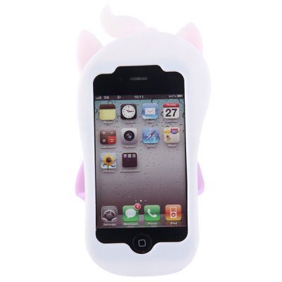 Гаджет   Cute 3D Slipper Design Silicone Protective Case Cover with Cat Pattern for iPhone 4 4S