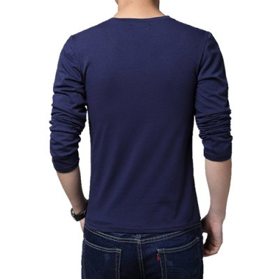 Simple Style V-Neck Solid Color Slimming Long Sleeves Mens Cotton Blend Plus Size T-ShirtMens Long Sleeves Tees<br>Simple Style V-Neck Solid Color Slimming Long Sleeves Mens Cotton Blend Plus Size T-Shirt<br><br>Material: Spandex, Cotton<br>Sleeve Length: Full<br>Collar: V-Neck<br>Style: Casual<br>Weight: 0.5KG<br>Package Contents: 1 x T-Shirt<br>Pattern Type: Solid