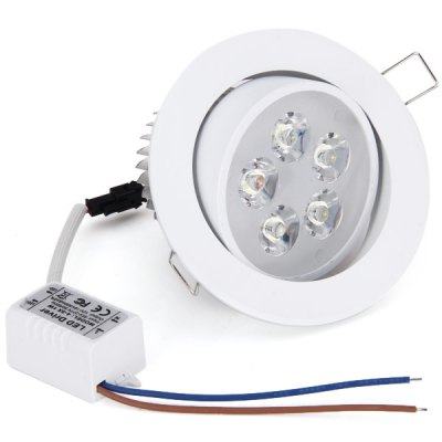 WBR - 0004 5W 85  -  265V 480  -  550LM Adjustable 5 - LED White Ceiling Down Light Warm White Bulb