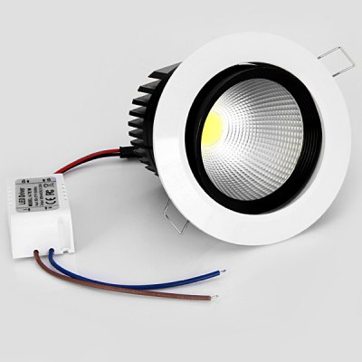 WBR - 0011 - 2 COB 680  -  750LM 7W 85  -  265V Deep Cup LED White Ceiling Down Light (White Shell)Indoor Lights<br>WBR - 0011 - 2 COB 680  -  750LM 7W 85  -  265V Deep Cup LED White Ceiling Down Light (White Shell)<br><br>Type: Recessed Down Lights, Ceiling Lights<br>Light color: Cold White, Warm White<br>Luminance (Lm): 680 - 750LM<br>LED Number(s): 1 COB LED<br>Wattage (W): 7<br>Voltage (V): 85-265V<br>Product Weight: 0.296 kg<br>Package weight: 0.4 kg<br>Product size (L x W x H): 10.8 x 10.8 x 8.5 cm / 4.25 x 4.25 x 3.35 inches<br>Package size (L x W x H): 14 x 13 x 11 cm<br>Package Contents: 1 x Downlight, 1 x LED Driver