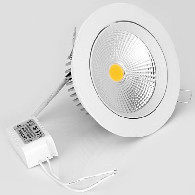 WBR - 0012 COB 950  -  1000LM 85  -  265V 10W LED White Ceiling Down Light (Shallow Cup Painted White)