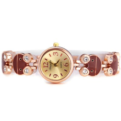 Гаджет   Female Quartz Watch with Diamonds and Lovely Baby Style Round Dial Stainless Watchband Women
