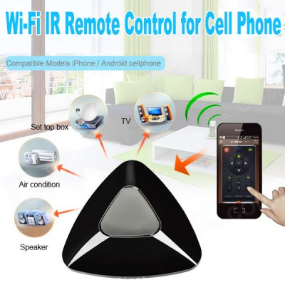 The Second Generation Home WiFi Smart Phone IR Learning Remote Control APP with 315HKZ RFID Function for iPhone 5 / 5S / 5C / 4 / 4S , Android Phone