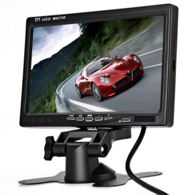 7 inch  Pillow TFT LCD Color Monitor + Wired Bus Camera Set