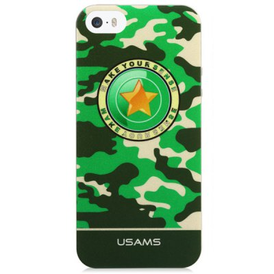 ФОТО USAMS Camo Series Soft Star Pattern TPU Material Fluorescent Protective Back Cover Case for iPhone 5 5S