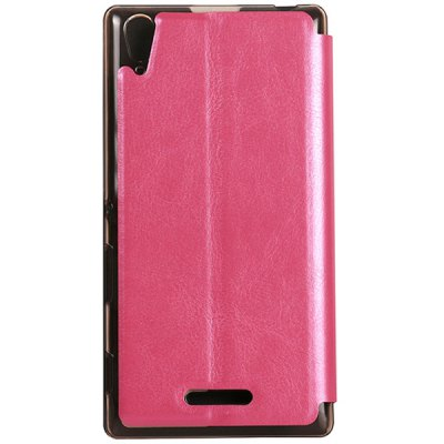 Фотография USAMS Merry Series Comfortable Polycarbonate and Artificial Leather Protective Cover Case with Sleep Function for Sony Xperia T3 M50W
