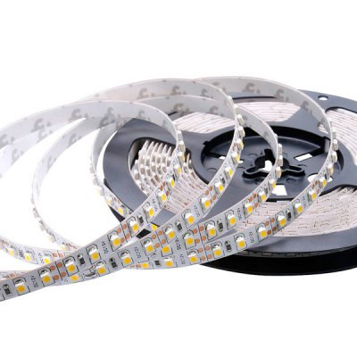 5M 36W 600 x SMD - 3528 LED 2400LM Warm White Flexible Non - waterproof Decoration Strip Light Rope Light