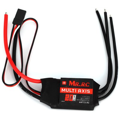 MR.RC 20A Brushless Motor Speed Controller ESC BEC 5V 3A for 4 - Axis Multirotor FPV Helicopter Quadcopter