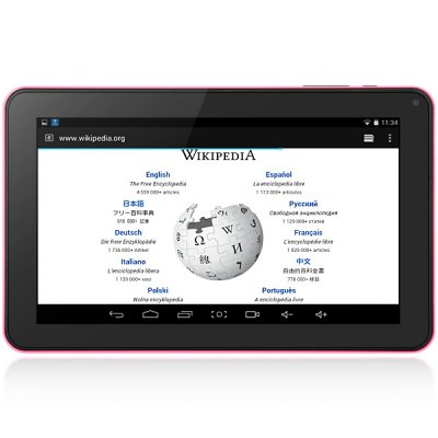 Actions 7021 Android 4.4 Tablet PC with 9 inch WVGA Screen ATM7021A Cortex A9 Dual Core 1.0GHz Cameras WiFi OTG